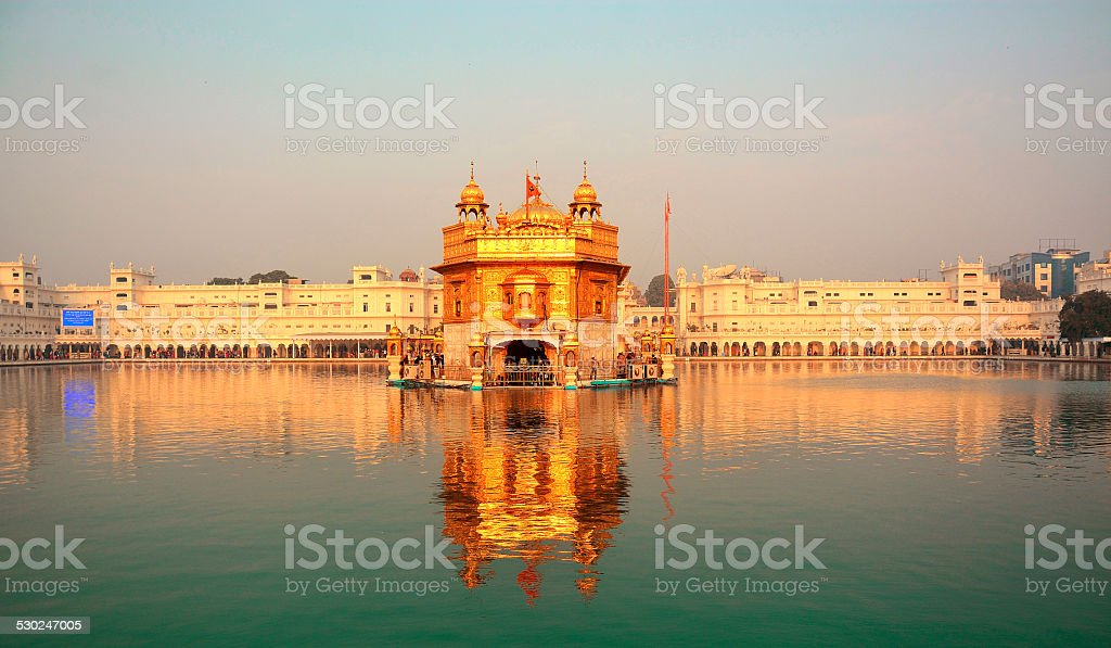 Golden temple (Wide-Morning) stock photo