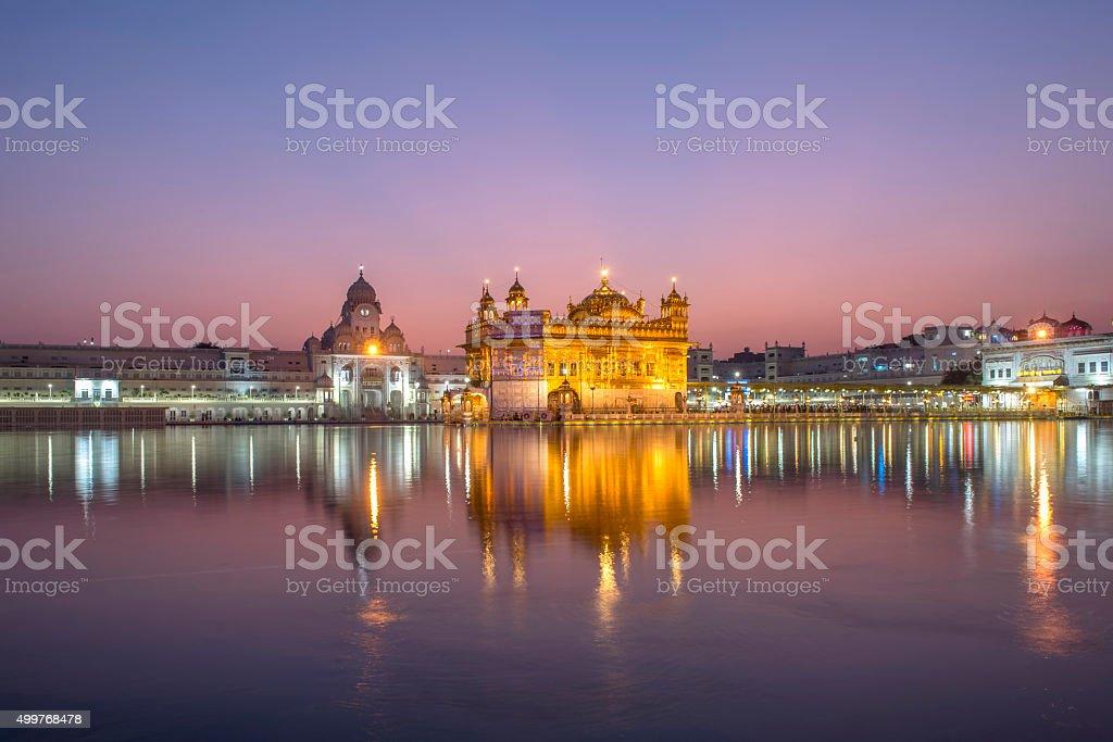 Golden Temple the landmark in Amritsar, India stock photo