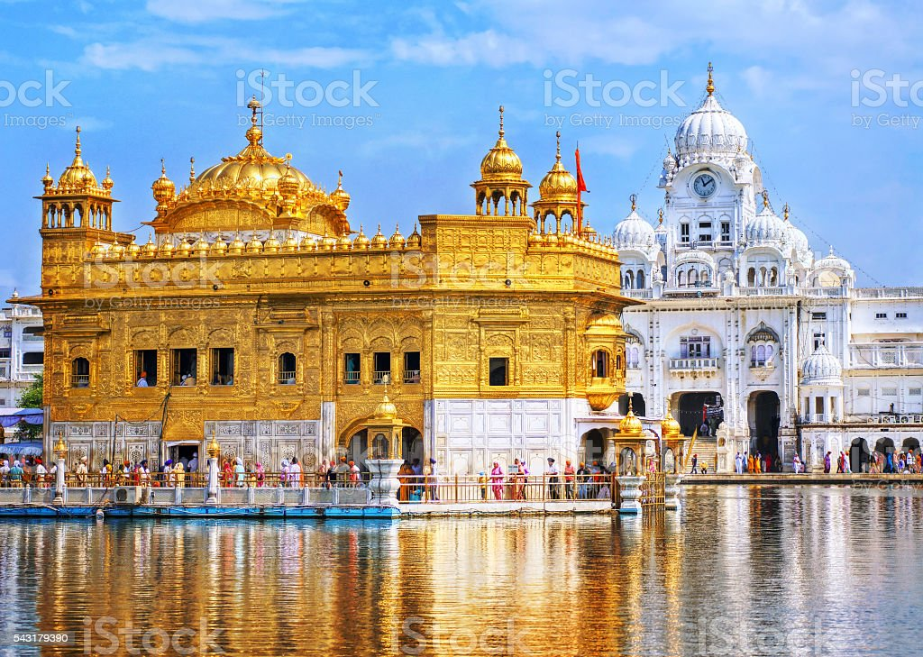 Golden Temple, the main sanctuary of Sikhs, Amritsar, India stock photo
