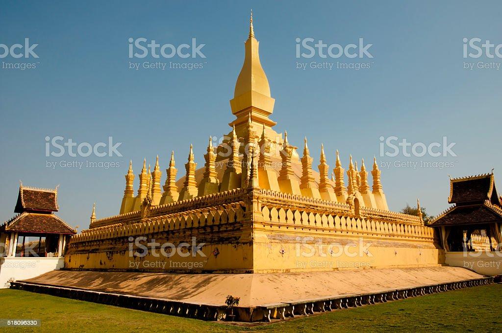 Golden Temple - Vientiane - Laos stock photo