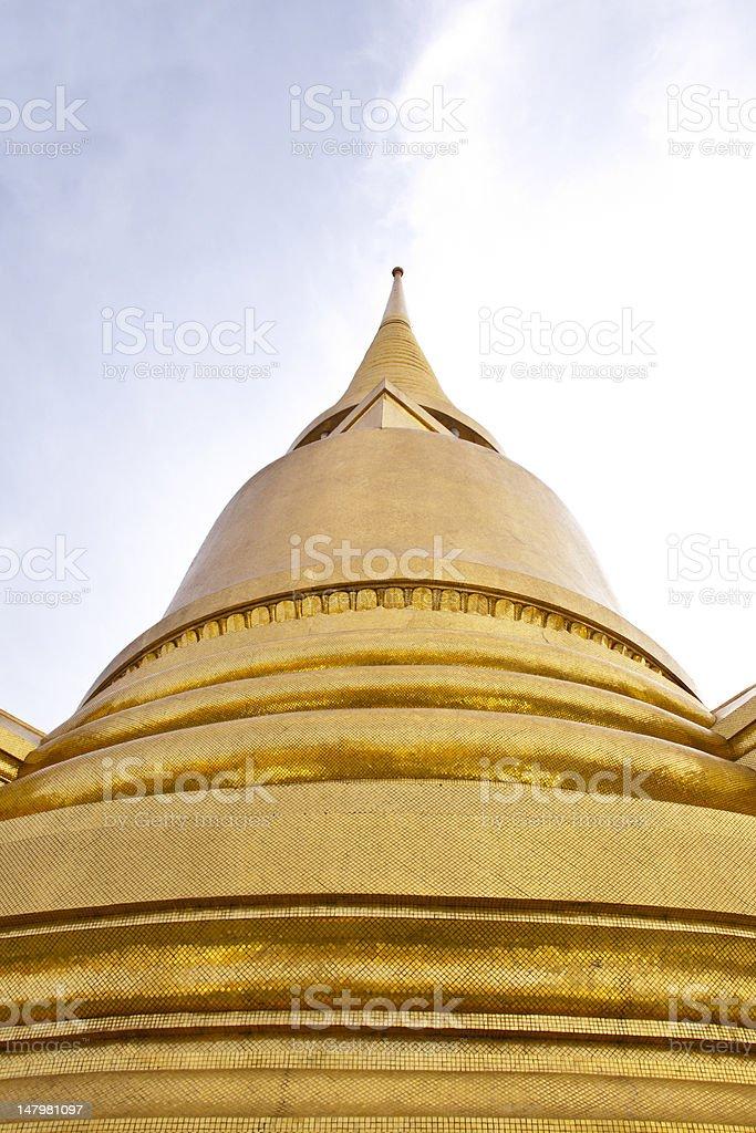 Złota Świątynia Wat Phra Kaew w Bangkoku w Tajlandii zbiór zdjęć royalty-free