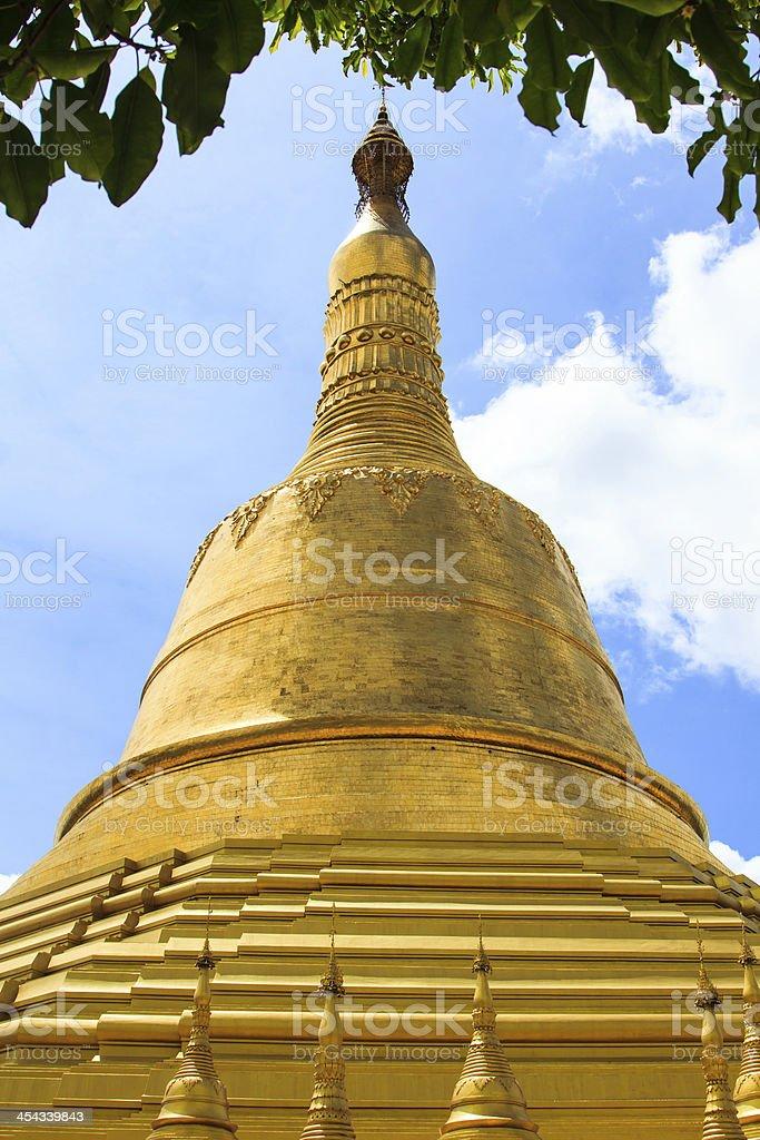 Golden Thai Buddhist pagoda royalty-free stock photo