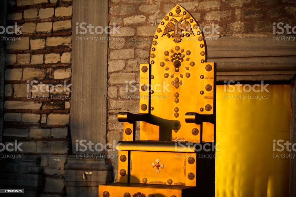 Golden Throne at sunset stock photo