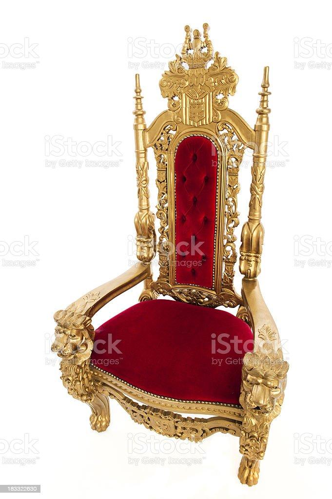 Golden Throne royalty-free stock photo