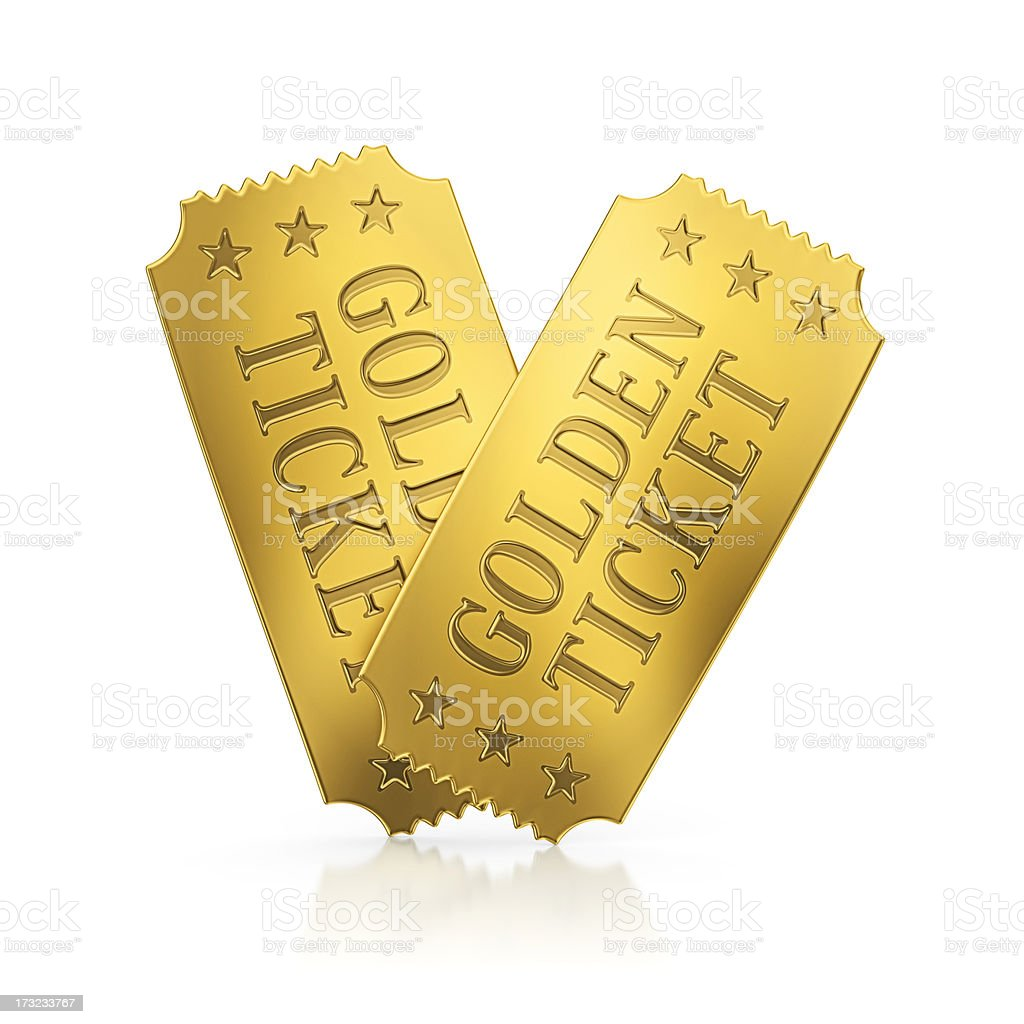 golden tickets stock photo