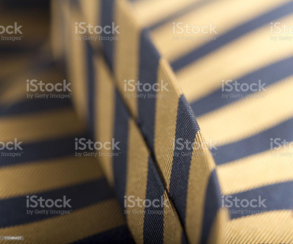 Golden tie royalty-free stock photo