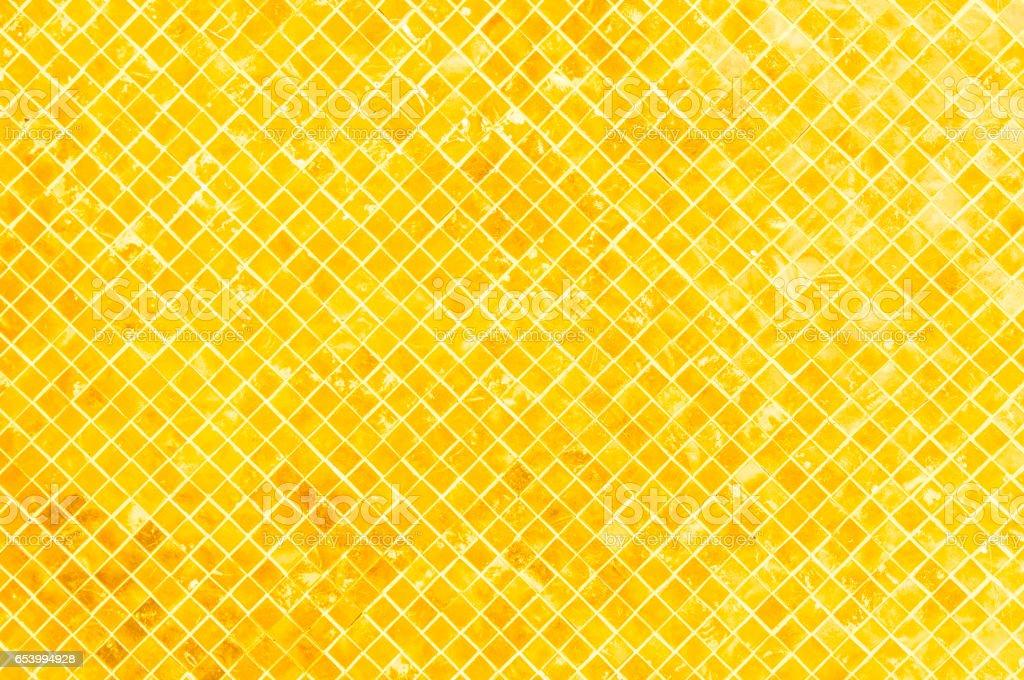 Golden tiled glasses mosaic background stock photo