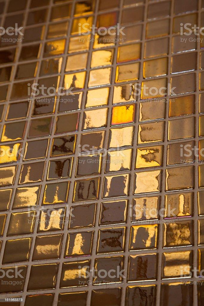 Golden tiling royalty-free stock photo