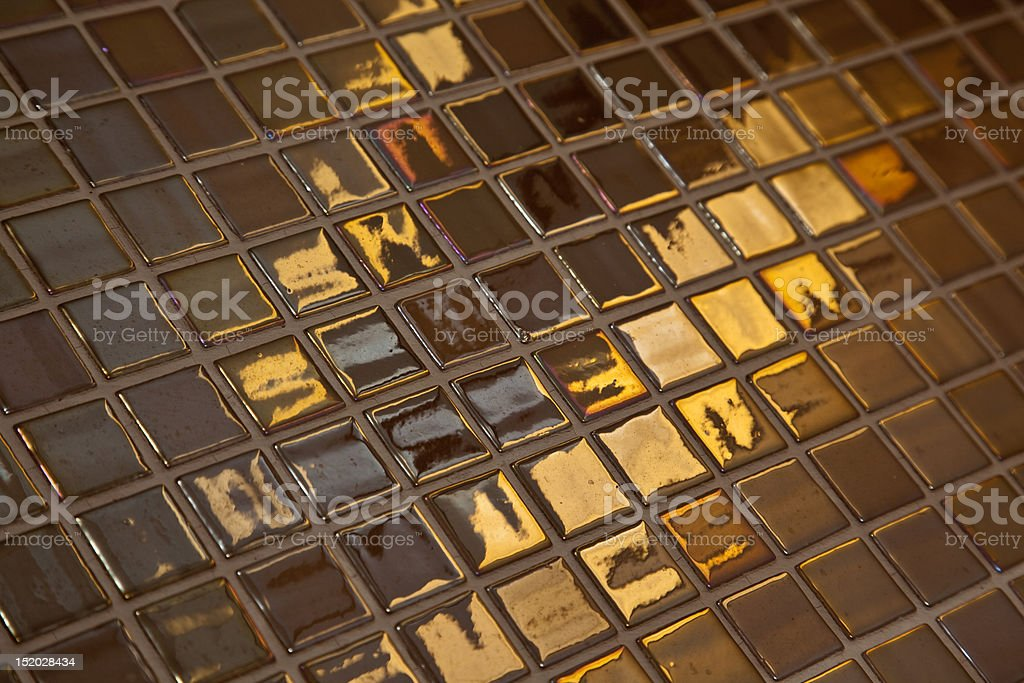 Golden tiling royalty-free stock photo