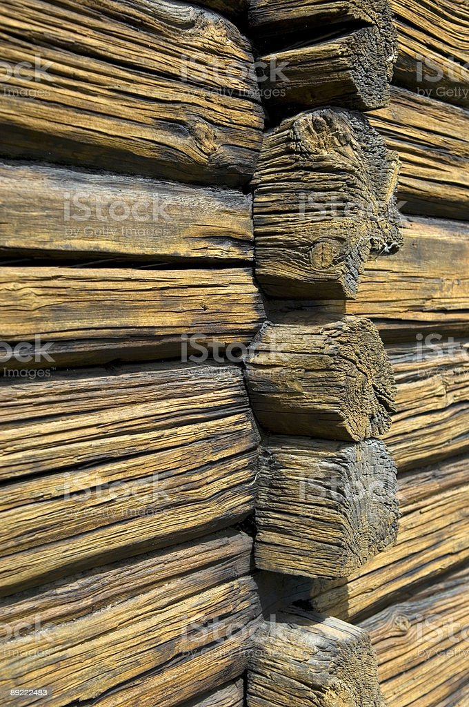 Golden timber wall royalty-free stock photo
