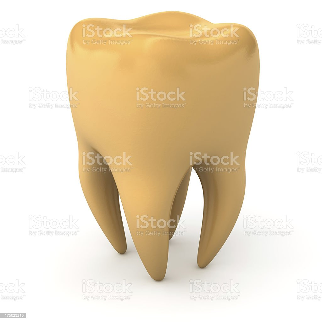 Golden tooth stock photo