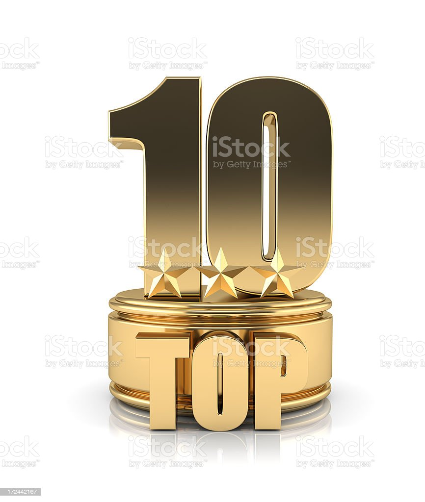 Golden TOP 10 stock photo
