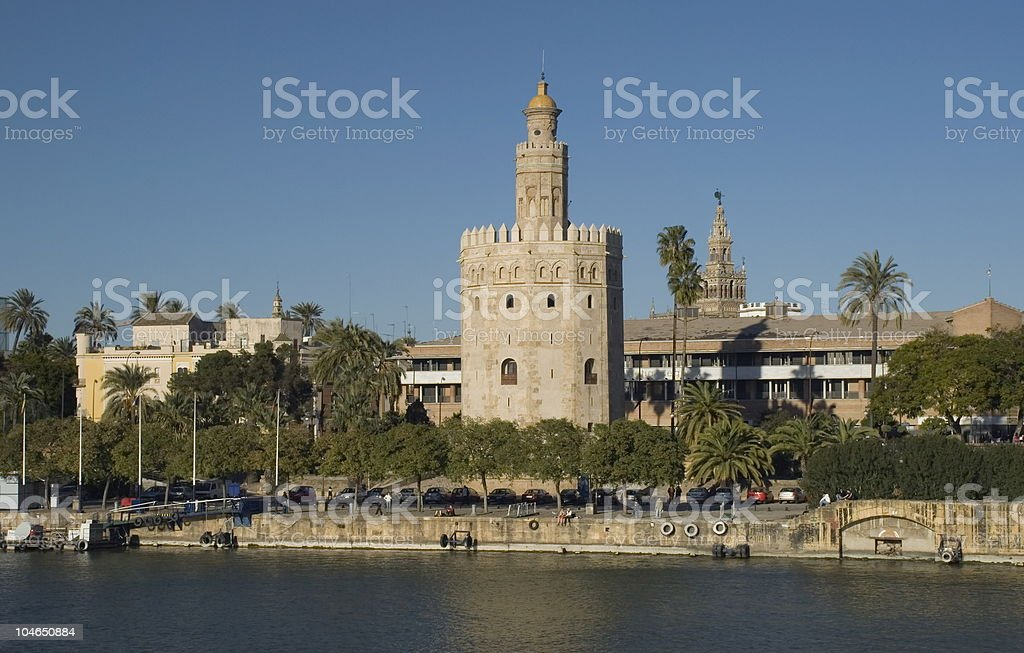 Golden Tower in Seville royalty-free stock photo