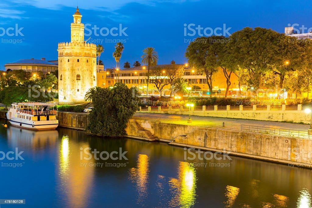 Golden Tower Seville stock photo