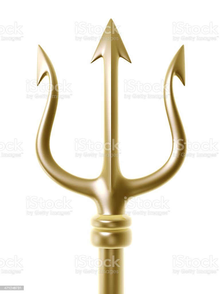 golden trident stock photo