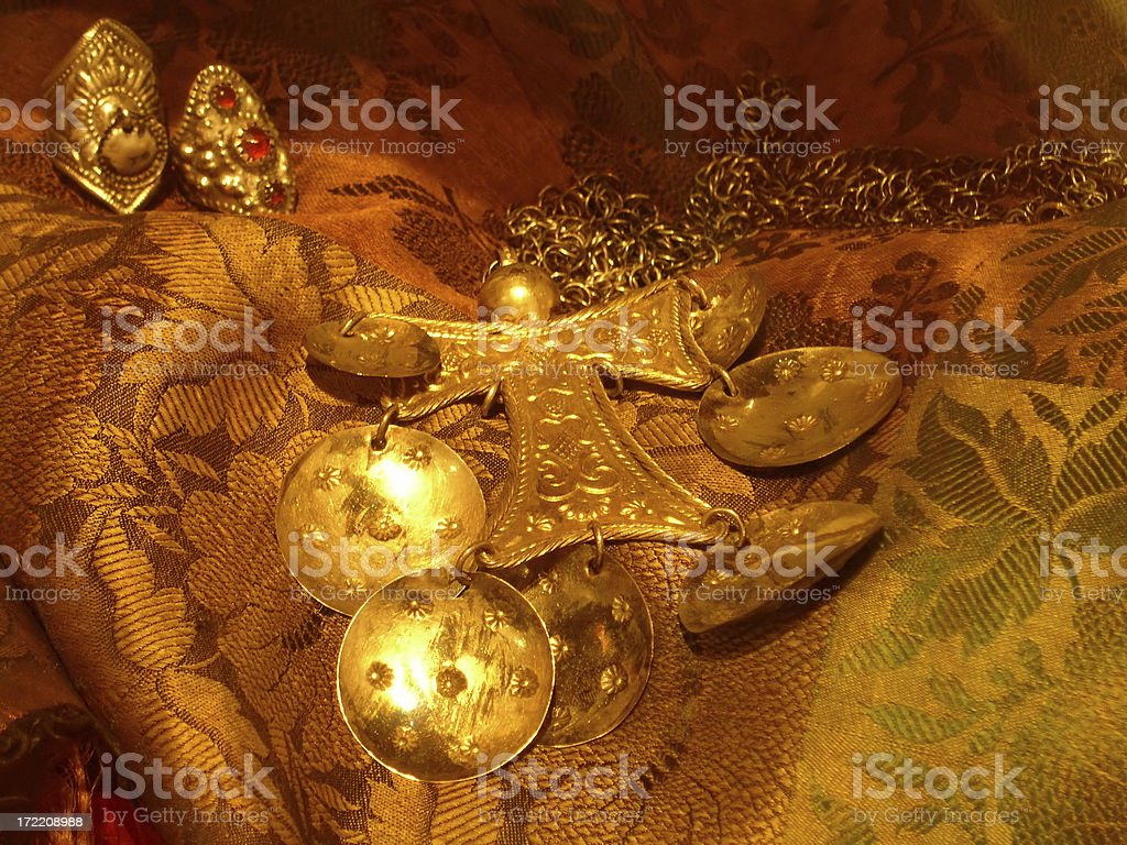 Golden Trinkets stock photo