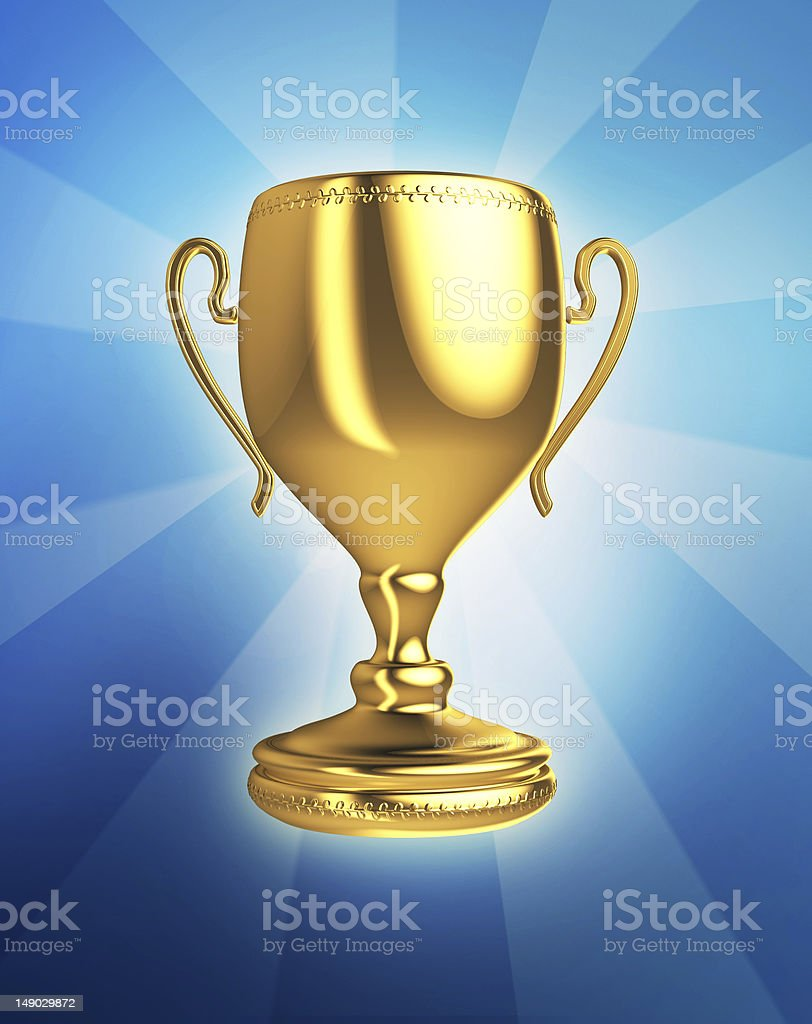 golden trophy cup royalty-free stock photo