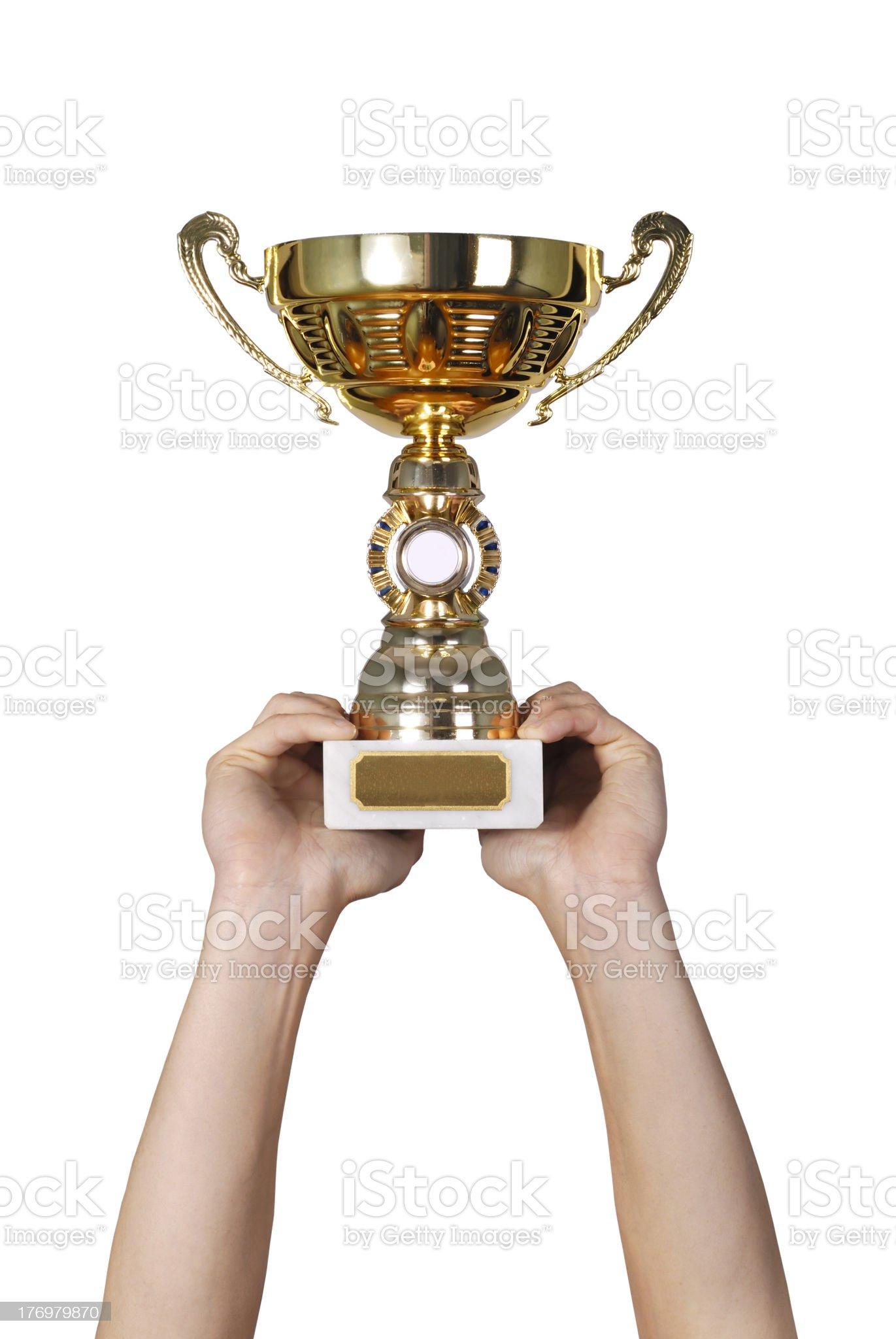Golden trophy royalty-free stock photo