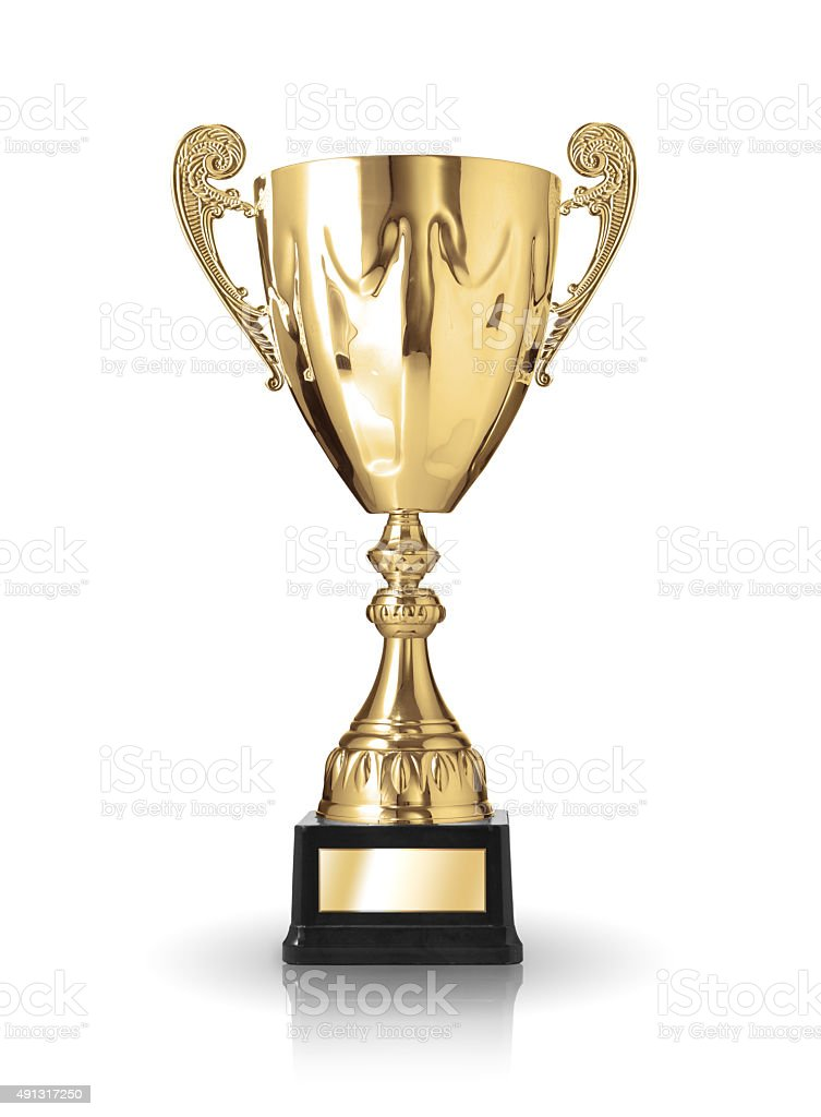 golden trophy stock photo