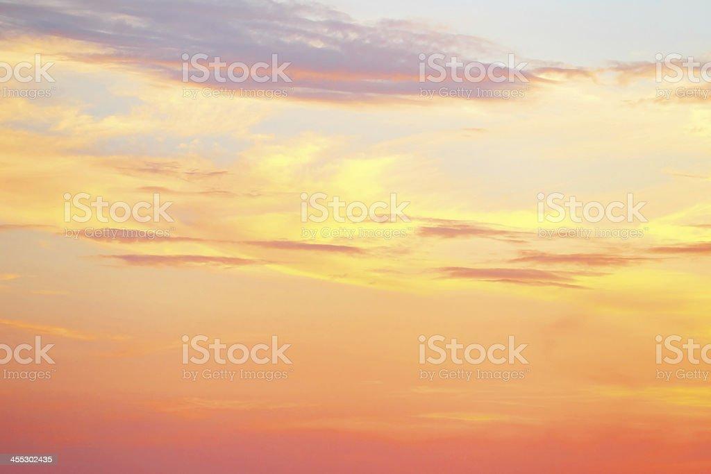 Golden tropical sunset stock photo