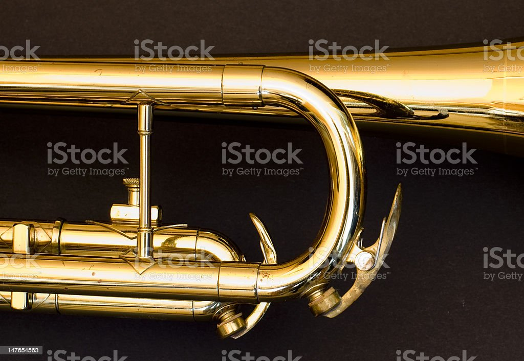 golden trumpet royalty-free stock photo