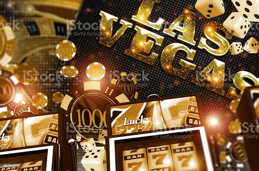 Golden Vegas Casino Concept stock vector art 637944410 | iStock