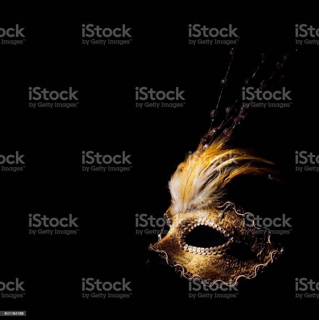 Golden venetian mask stock photo