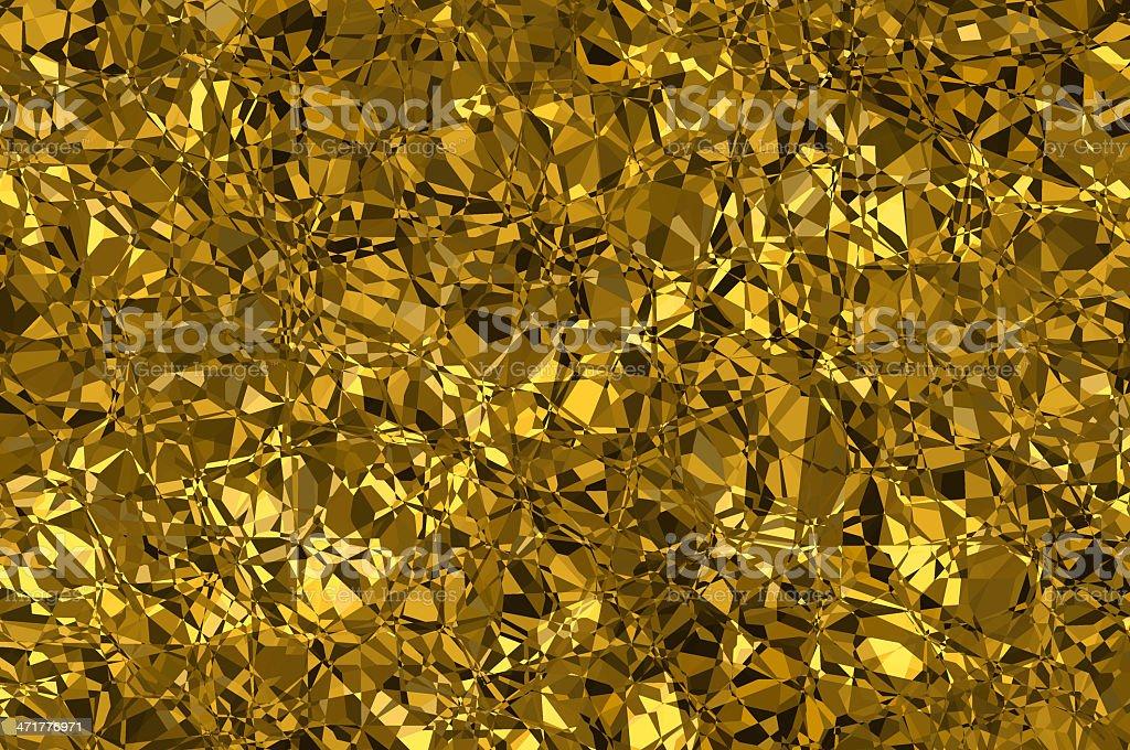Golden vibrant mosaic background. alpha. royalty-free stock photo