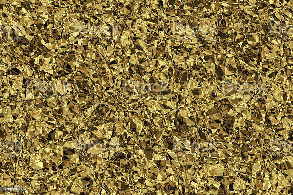 Golden vibrant mosaic background. kappa. royalty-free stock photo