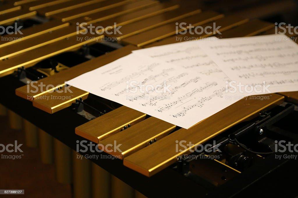 Golden Vibraphone stock photo