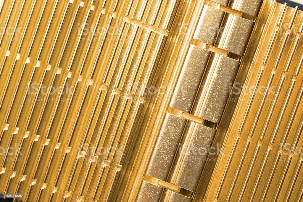 Golden video adapter cooler royalty-free stock photo