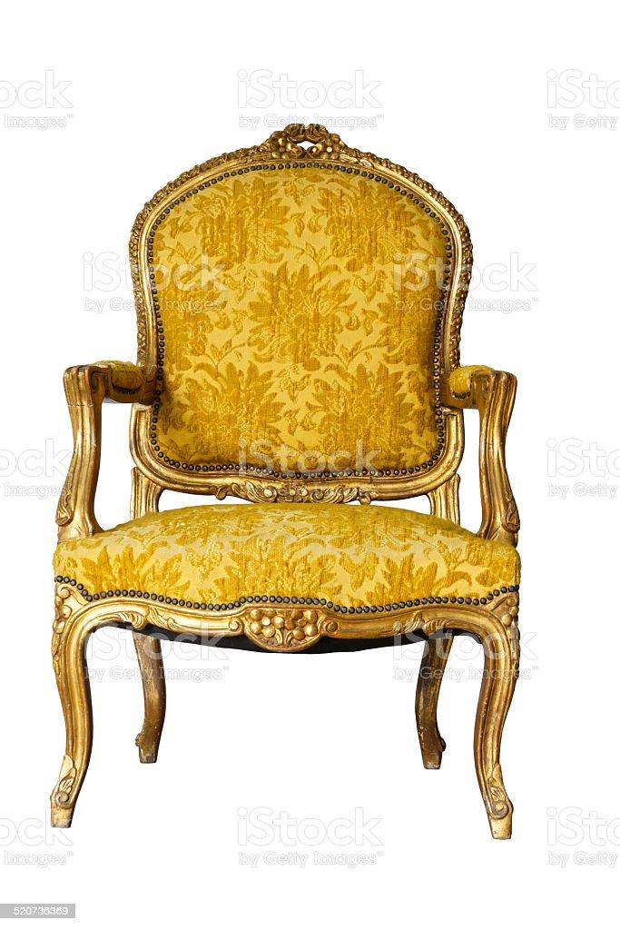 Golden Vintage Chair stock photo