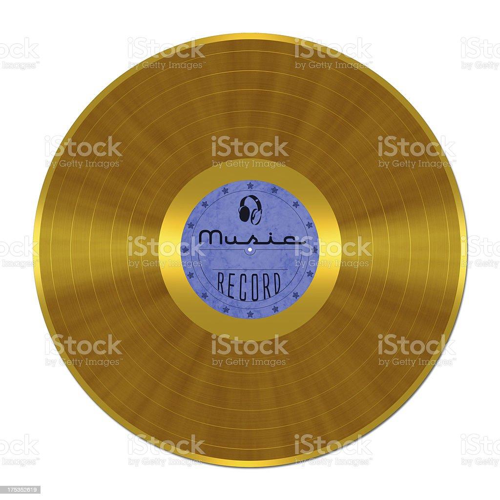 Golden Vinyl Record stock photo
