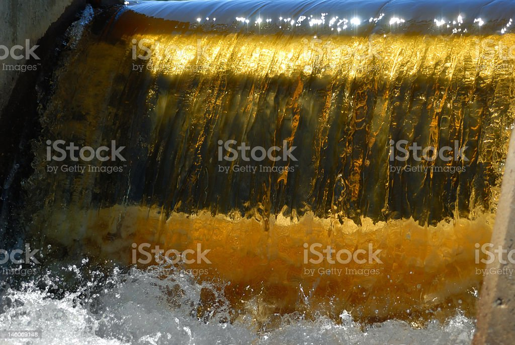 Golden Water Dam in Whiteshell Provincial Park royalty-free stock photo