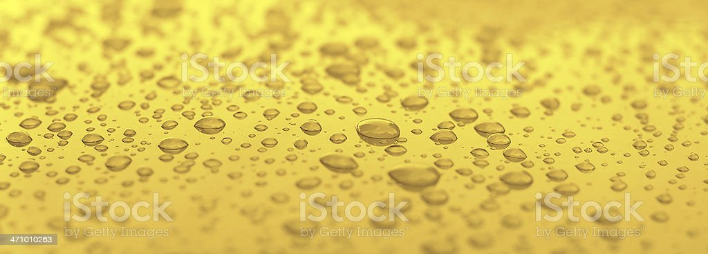 Golden Water Droplets stock photo