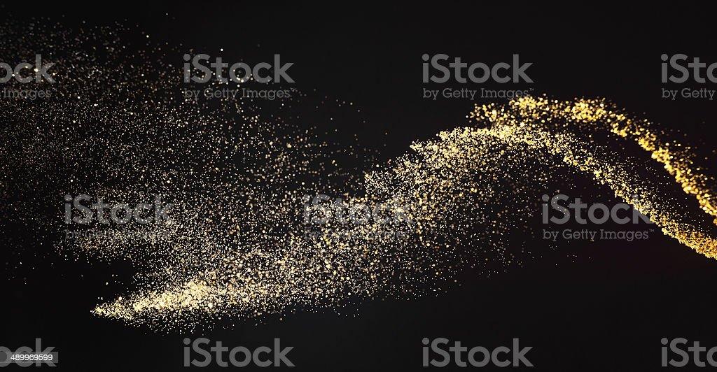 golden wave stock photo