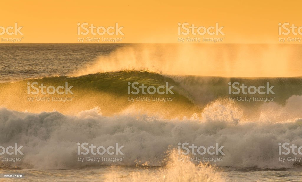 Golden wave stock photo