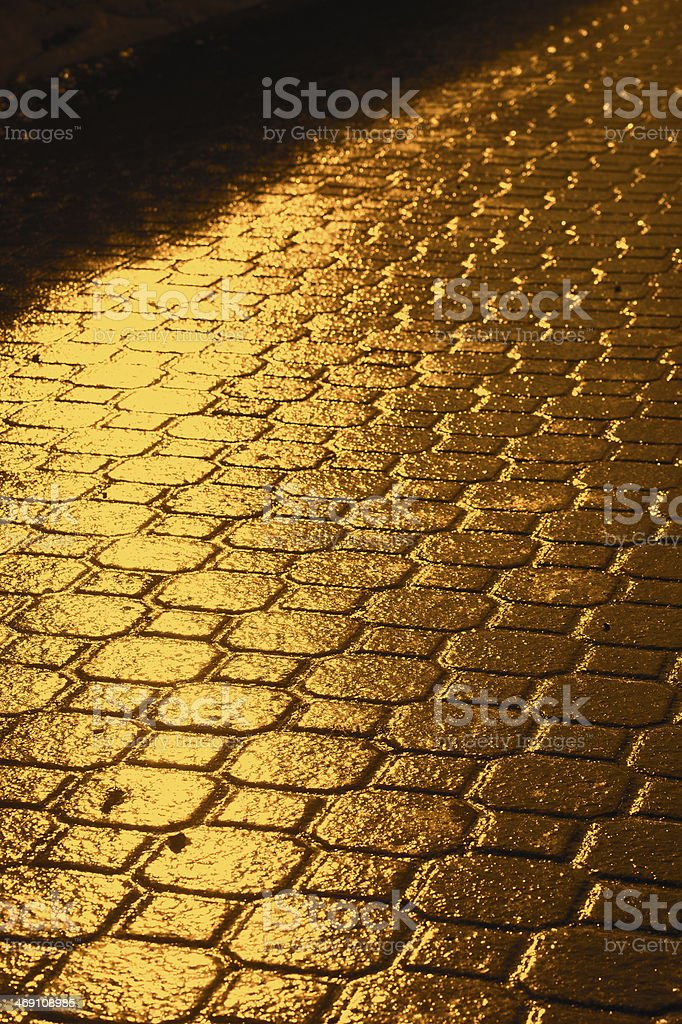 Golden way stock photo
