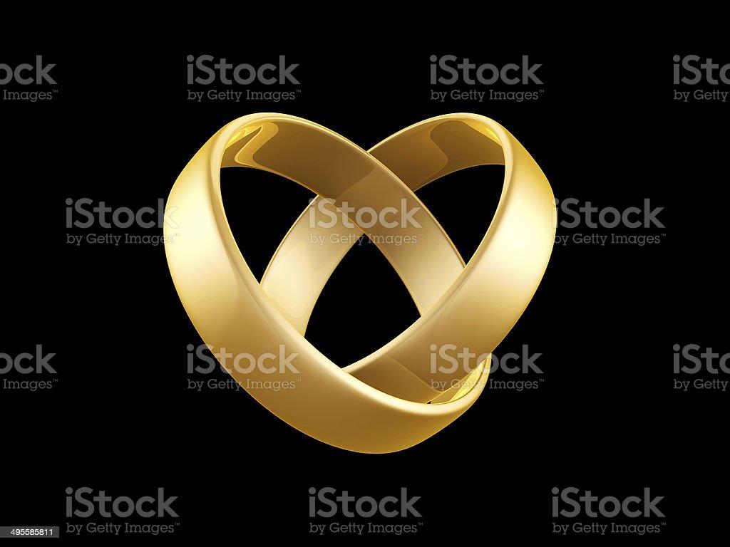 golden wedding ring royalty-free stock photo