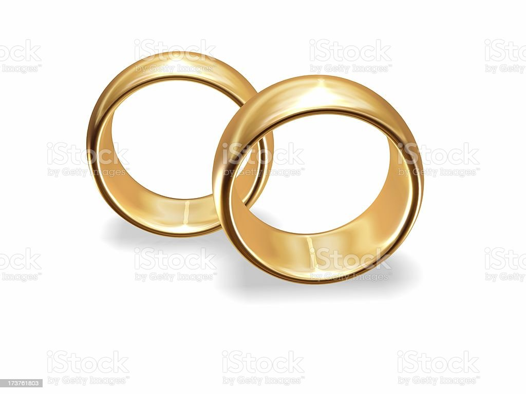Golden wedding rings royalty-free stock photo