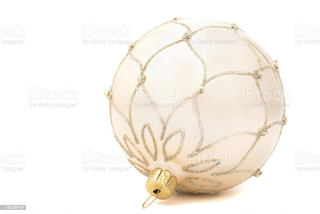 golden / white christmas bauble royalty-free stock photo