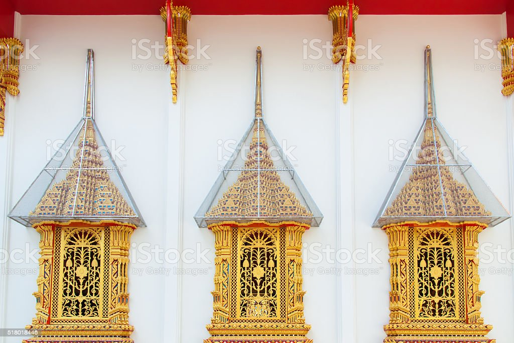 Golden window royalty-free stock photo
