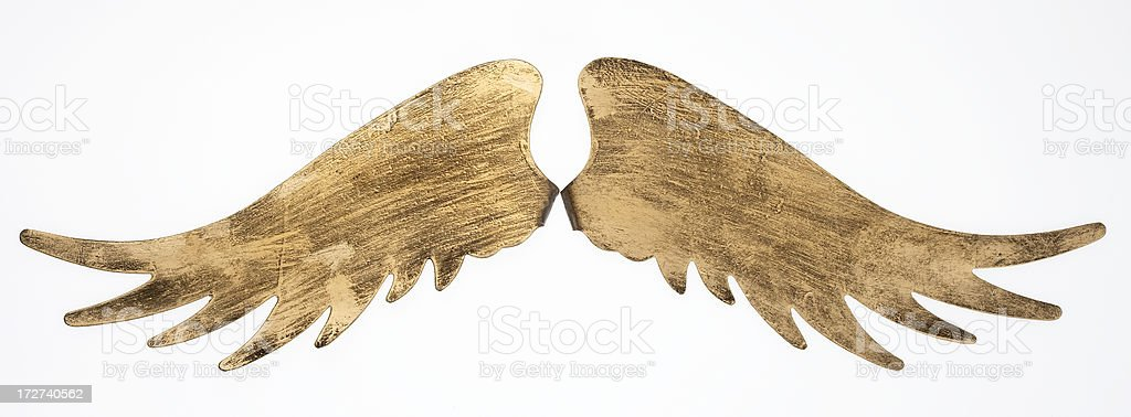 Golden wings stock photo