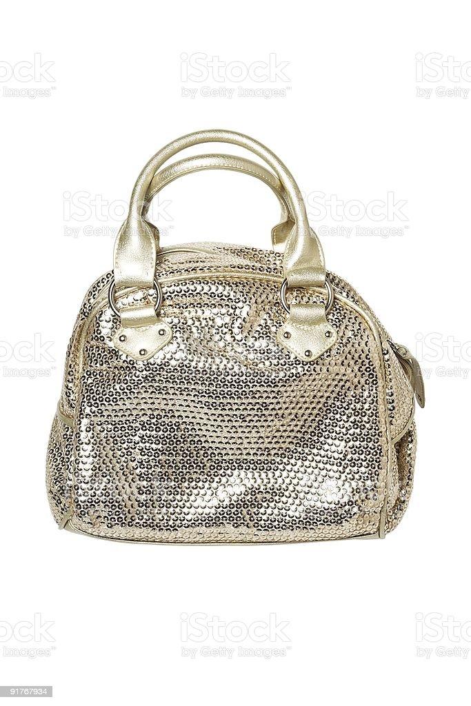 Golden women handbag royalty-free stock photo