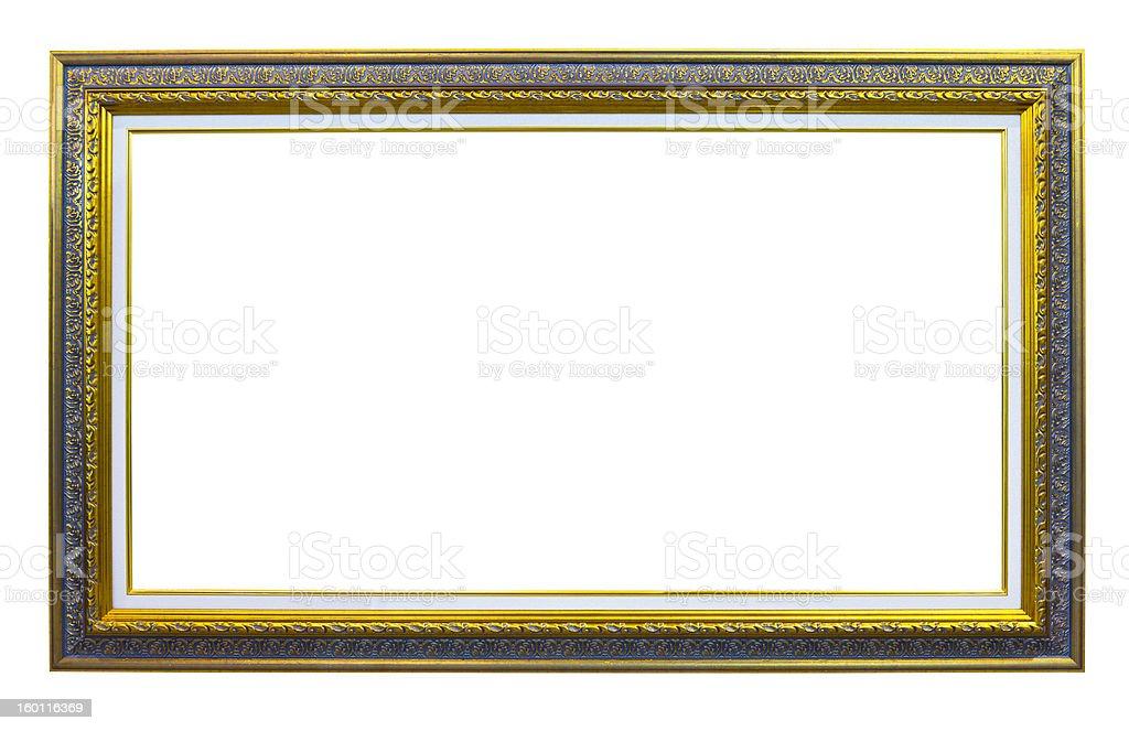 golden legno foto telaio isolato immagine foto stock royalty-free