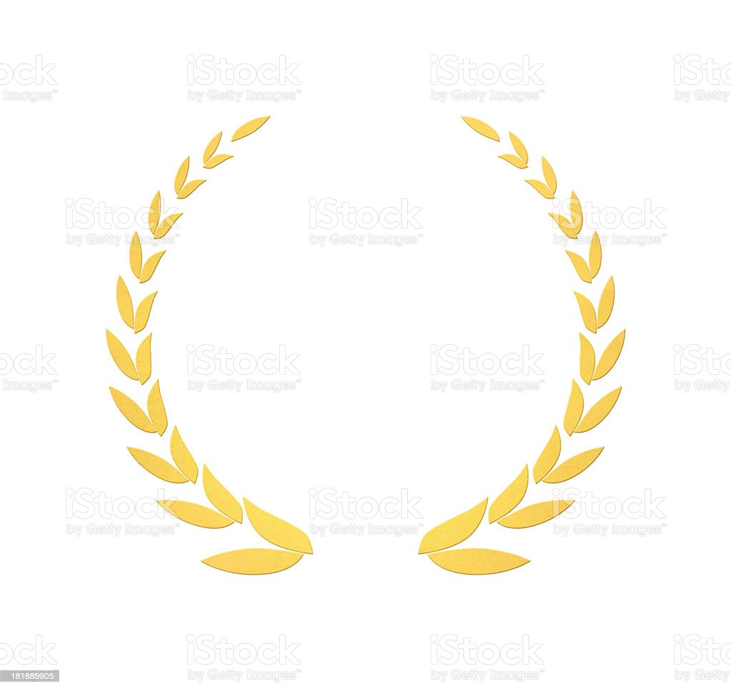 Golden wreath of laurels royalty-free stock photo