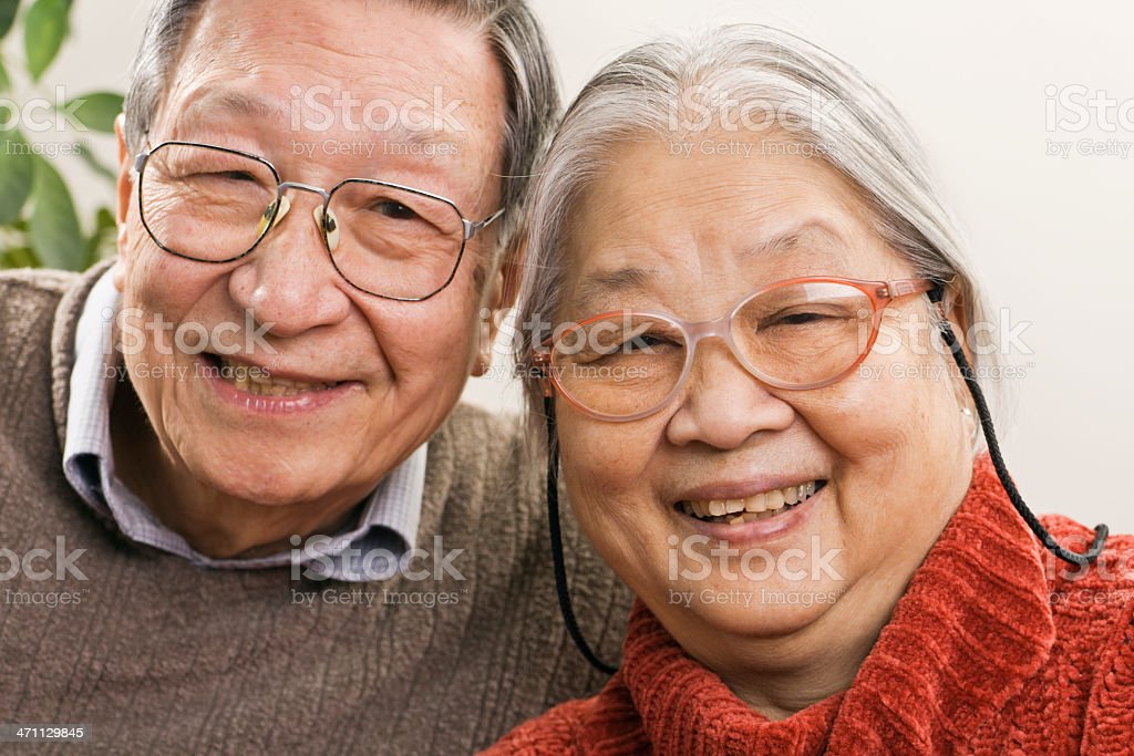 Golden Years - Asian Couple royalty-free stock photo