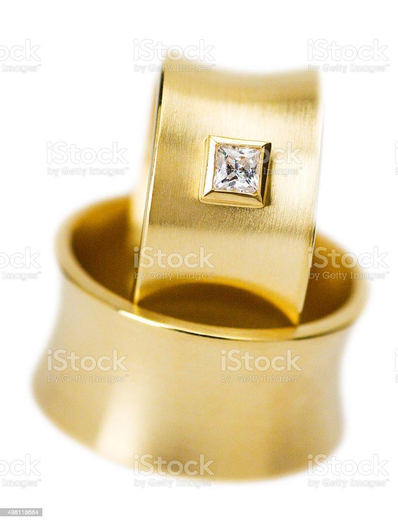 goldene Trauringe stock photo