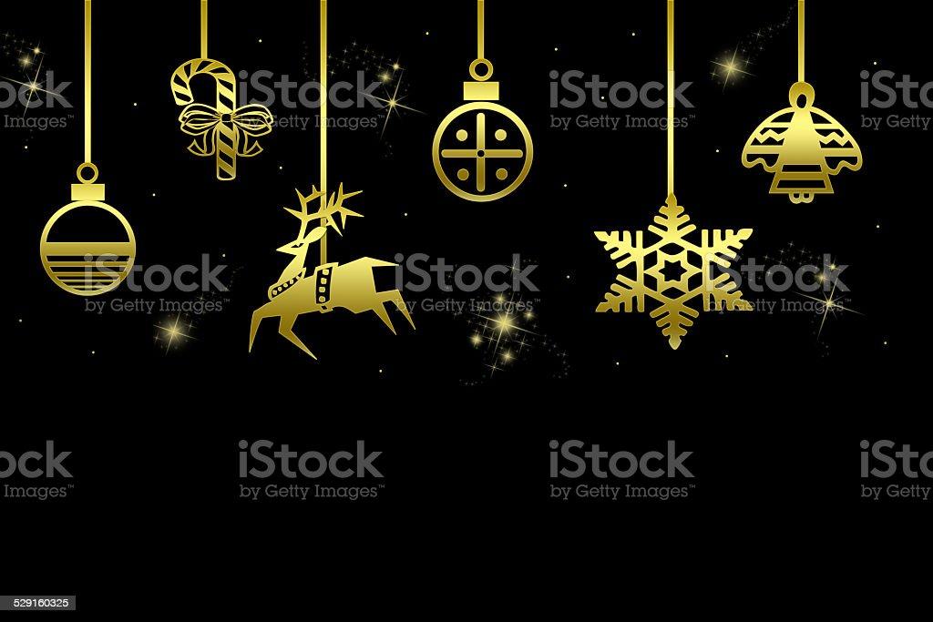 Goldene Weihnachtsmotive stock photo