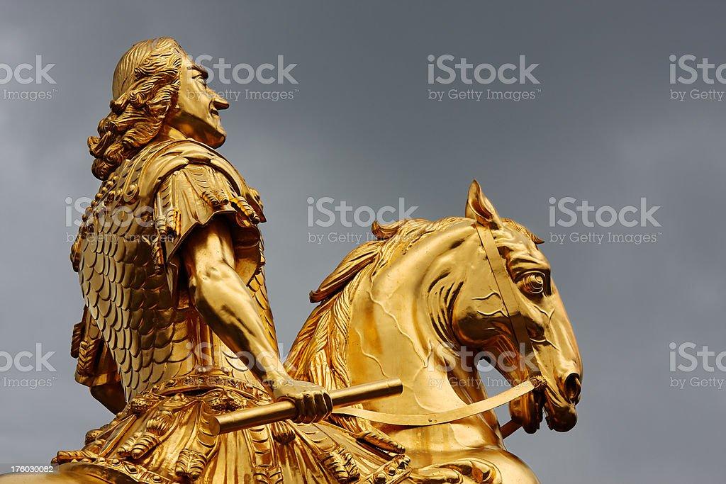 Goldener Reiter stock photo